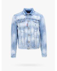 DSquared² Blue Jacket for men