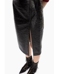 Jupe crayon en tweed N°21 en coloris Black