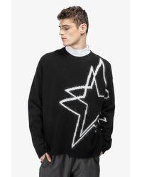 N°21 Black Intarsia-star Sweater for men