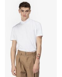 T-Shirt a collo alto di N°21 in White da Uomo