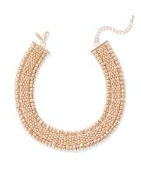 New York & Company Metallic Goldtone Chain-link Collar Necklace