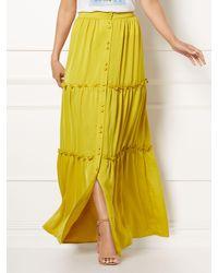 New York & Company Green Eva Mendes Collection - Sasha Maxi Skirt