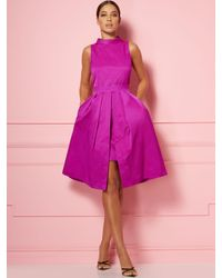 New York & Company Pink Freya Taffeta Dress - Eva Mendes Party Collection