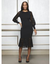 New York & Company Black Kamala Sweater Dress - Eva Mendes Collection