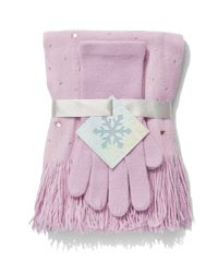 New York & Company - Pink 2-piece Jeweled Scarf & Gloves Set - Lyst