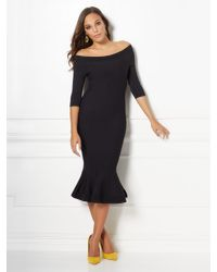 New York & Company Black Melinda Sweater Dress - Eva Mendes Collection