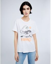 """Re/done White 70s Loose """"i Don't Do Mornings"""" Tee"""