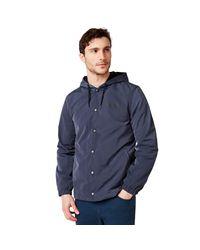 Oakley Blue 75 Hoodie Coach Jacket for men