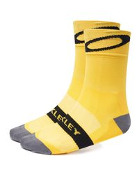 Oakley Black/yellow Cycling Socks für Herren