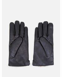 OAK - Black Rabbit Lined Leather Glove - Lyst