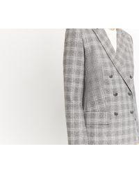 Oasis Gray Pretty Check Jacket