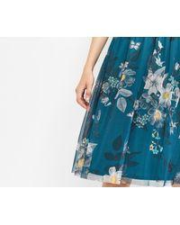 Oasis | Blue Marie Mesh Dress Longer Length | Lyst