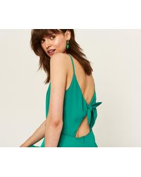 Oasis - Green Tie Back Cami Dress - Lyst