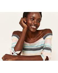 Oasis - Multicolor Long Pastel Stripe Dress - Lyst