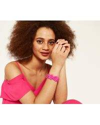 Oasis - Pink Fuschia Flower Stretch Bracele - Lyst