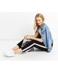 Oasis - Blue Soft Sporty Trousers - Lyst