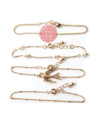 Oasis - Metallic Friendship Bracelet Pack - Lyst