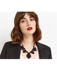 Oasis - Black Jet Statement Collar - Lyst