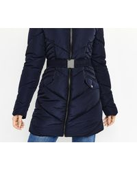 d9aa44814221c Oasis Cairnwell Long Padded Jacket in Blue - Lyst