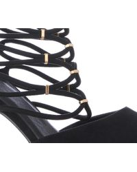 Oasis - Black Carrie Cage Court Shoe - Lyst
