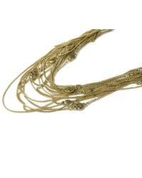 Oasis - Metallic Multi Chain Necklace - Lyst