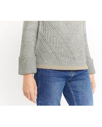Oasis - Gray Directional Rib Cowl Neck - Lyst