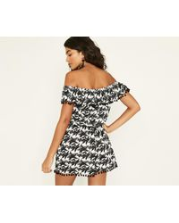 Oasis - Black Hermosa Playsuit - Lyst