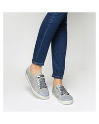 Office Gray Puffin Lace Up Trainers