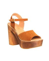 Office - Brown Porter Chunky Heel Sandal - Lyst