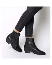 Office Black Acute- Ruched Casual Side Zip