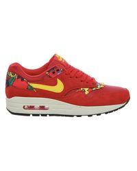 Nike Red Aloha Air Max 1 Low-Top Sneakers