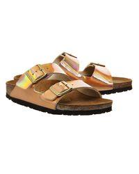 Birkenstock Pink Arizona Two Strap Sandals