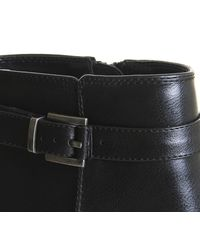 Office Black Favour Buckle Strap Boots