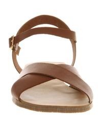 Office Brown Immaculate Cross Strap
