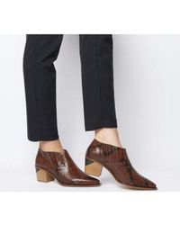 Office Brown Madrina- Western Shoe