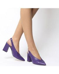 Office Purple Mimi Chunky Slingback