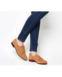 Office Brown Reach Softy Lace Up Flats