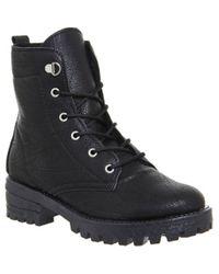 Office Black Landslide Hiker Lace Up Boots