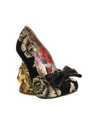 Irregular Choice Black Trixy Unicorn Heels