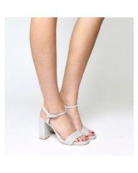 Office Gray Hazzard Slim Platform Sandal