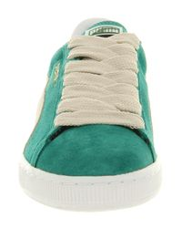 PUMA Suede Classic Green Lake White Swan for men