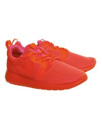 Nike Red Roshe Run Natural Motion Prm Sneakers for men