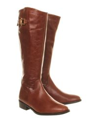 Office Brown Napoleon Knee Boots