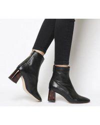 Office Black All Day- Back Zip Block Heel Boot