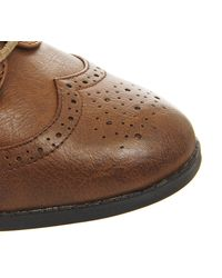 Office Brown Quantum Lace Up Brogues