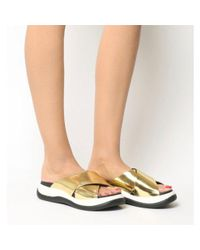 Jeffrey Campbell Metallic Nemo Sports Sandals