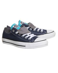 Converse Blue All Star Low Double Tongue