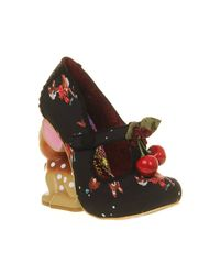 Irregular Choice Black Cherry Deer Heel