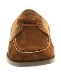 Ralph Lauren - Brown Bienne Boat Shoe for Men - Lyst