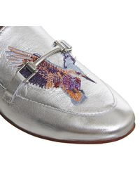 Office Metallic Fizzy Embroidered Mules